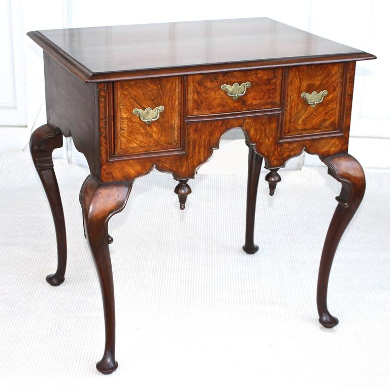 English George II Walnut Lowboy For Sale