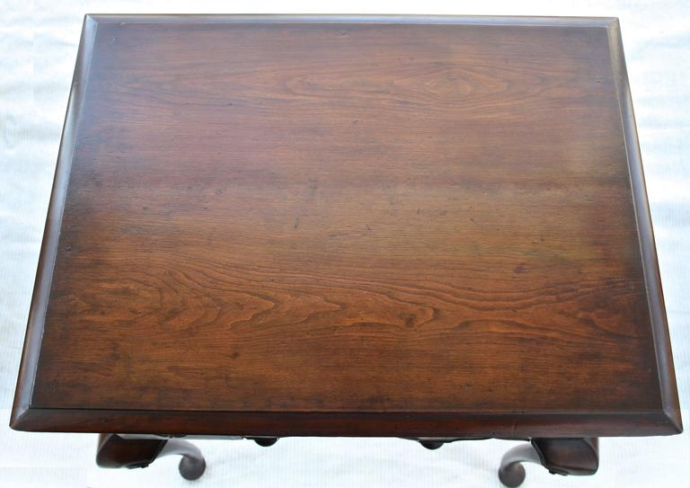 Forged George II Walnut Lowboy For Sale