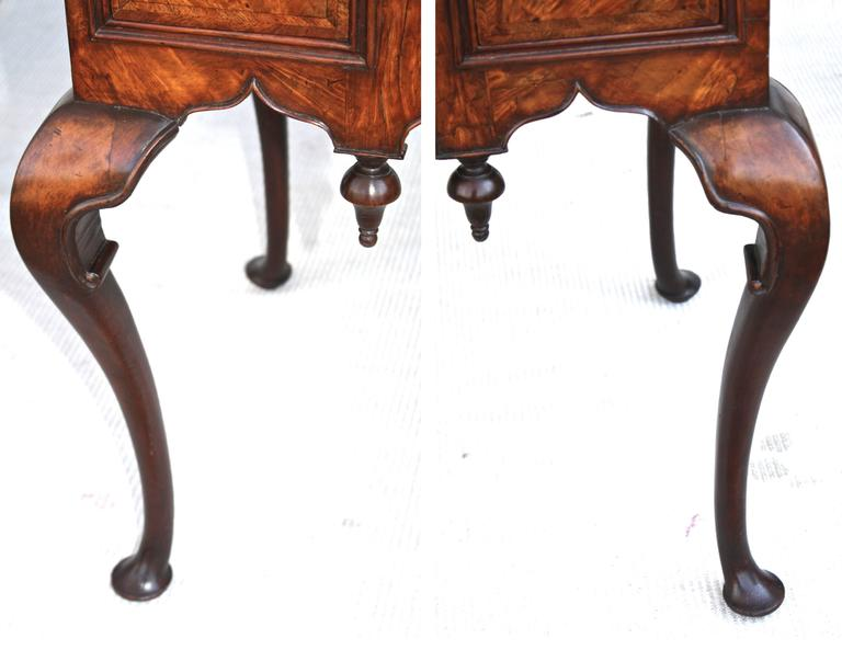 George II Walnut Lowboy For Sale 1