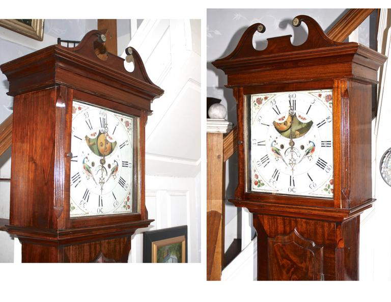 English Regency Tall Case Clock In Good Condition For Sale In Woodbury, CT