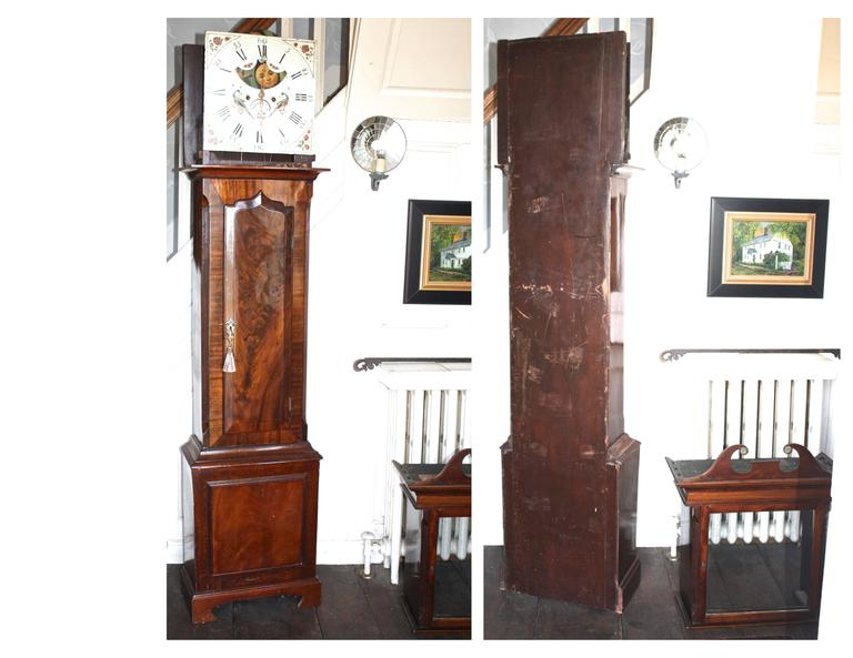 English Regency Tall Case Clock For Sale 4