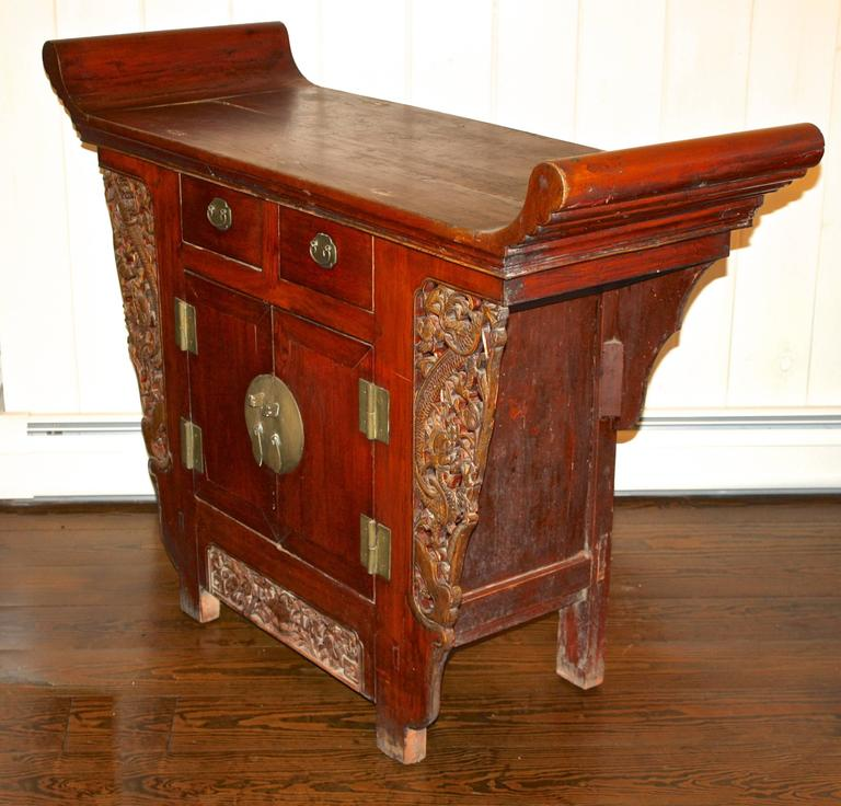 Qing Chinese Tongzhi Altar Cabinet For Sale