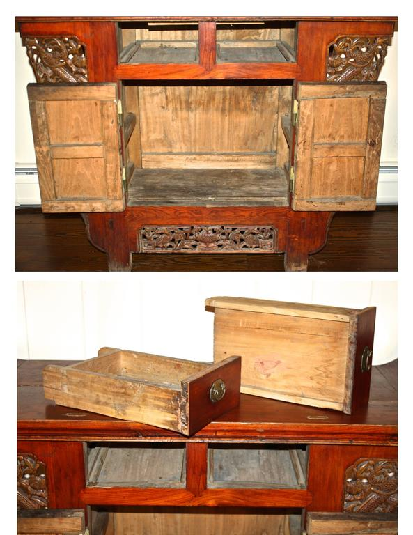 19th Century Chinese Tongzhi Altar Cabinet For Sale