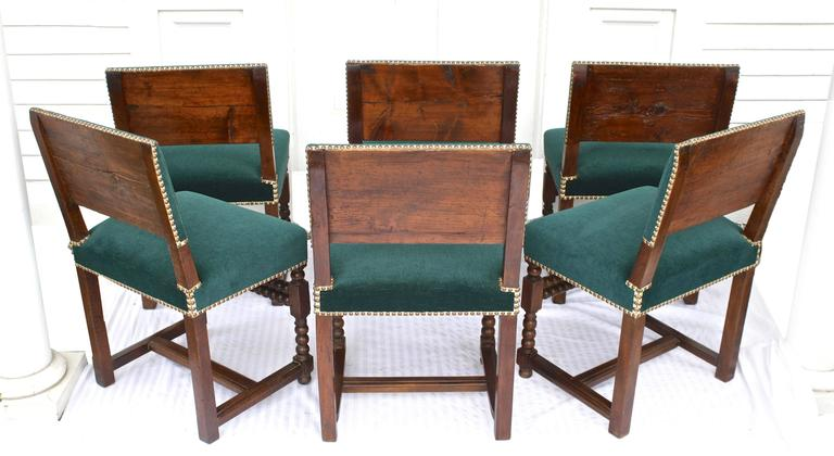 French SIX Louis XIII Dining Chairs For Sale