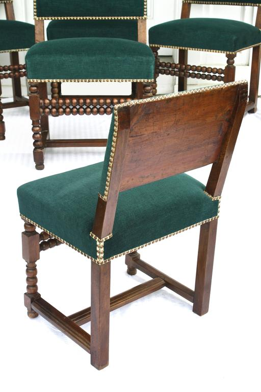 17th Century SIX Louis XIII Dining Chairs For Sale