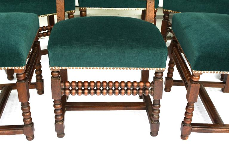 SIX Louis XIII Dining Chairs For Sale 1