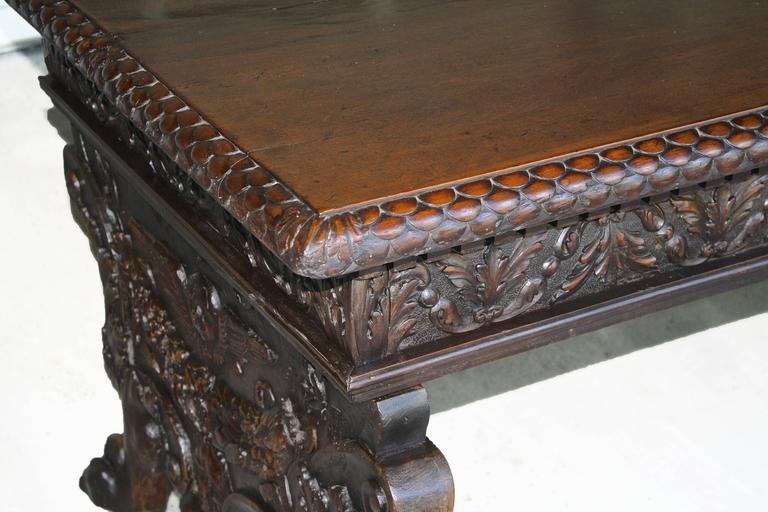 Italian Renaissance Trestle Table  For Sale 1