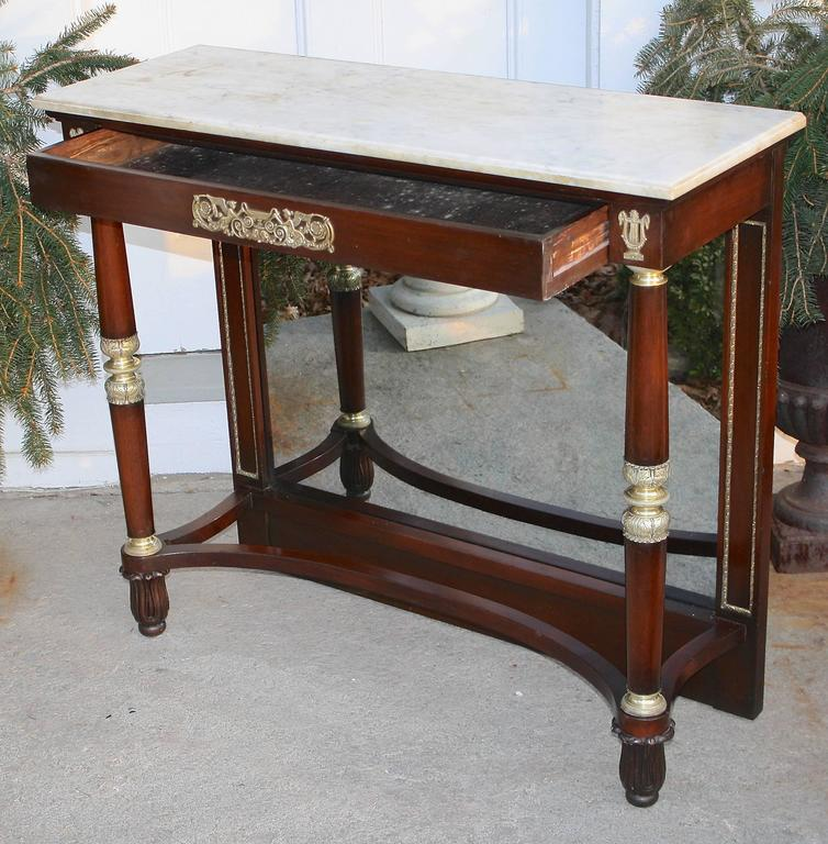 Forged French Restauration Period Pier Table For Sale