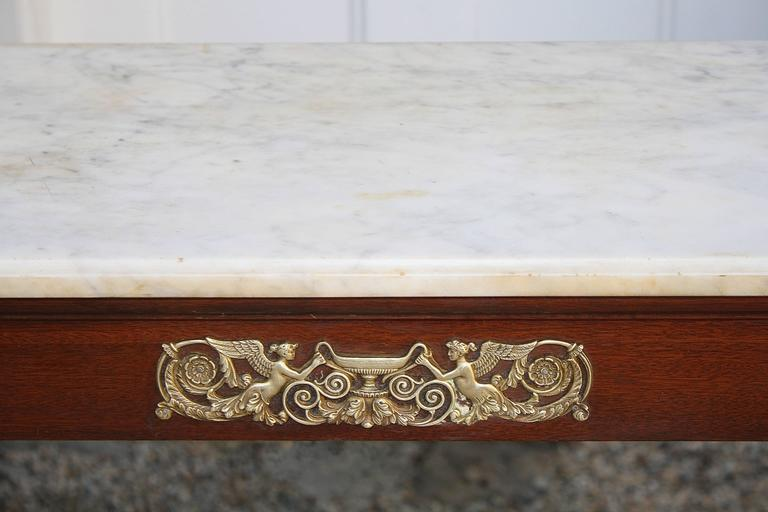 Mid-19th Century French Restauration Period Pier Table For Sale