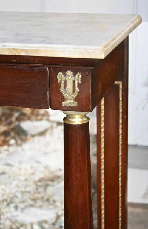 Mirror French Restauration Period Pier Table For Sale