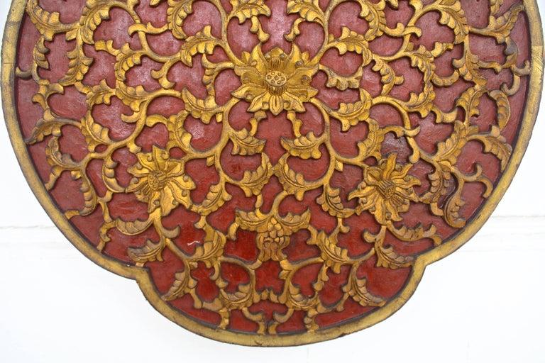 19th Century Chinese Quatrefoil Pheasant Panel For Sale