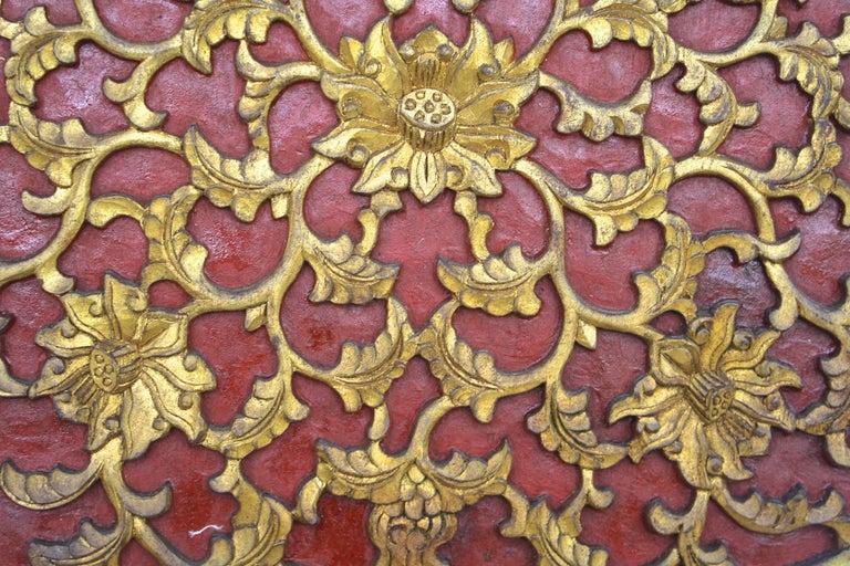 Wood Chinese Quatrefoil Pheasant Panel For Sale
