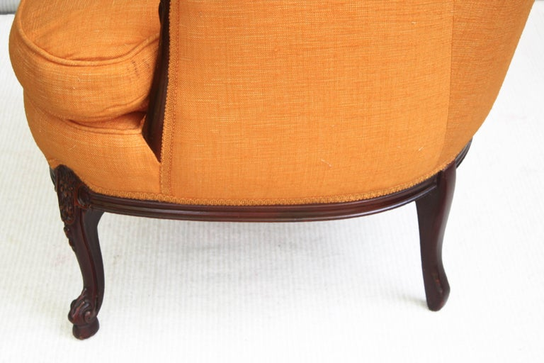 Upholstery Napoleon III Bergere a Oreilles For Sale