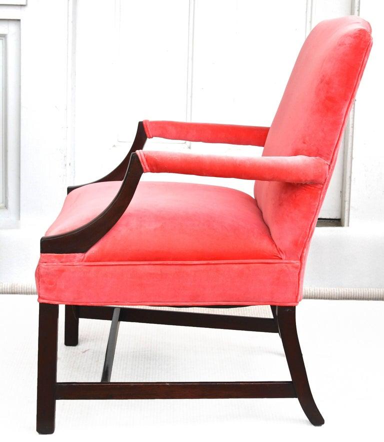 English Georgian Gainsborough Armchair For Sale