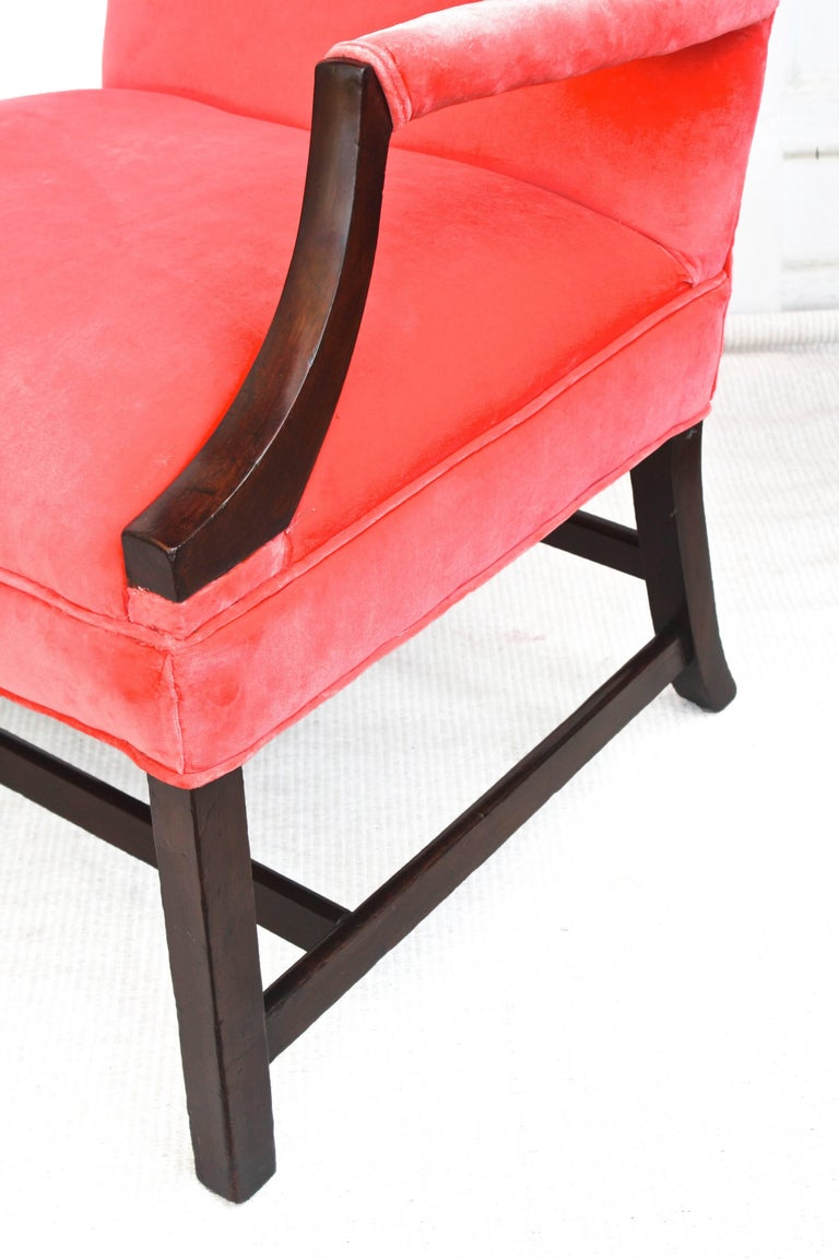 Upholstery Georgian Gainsborough Armchair For Sale