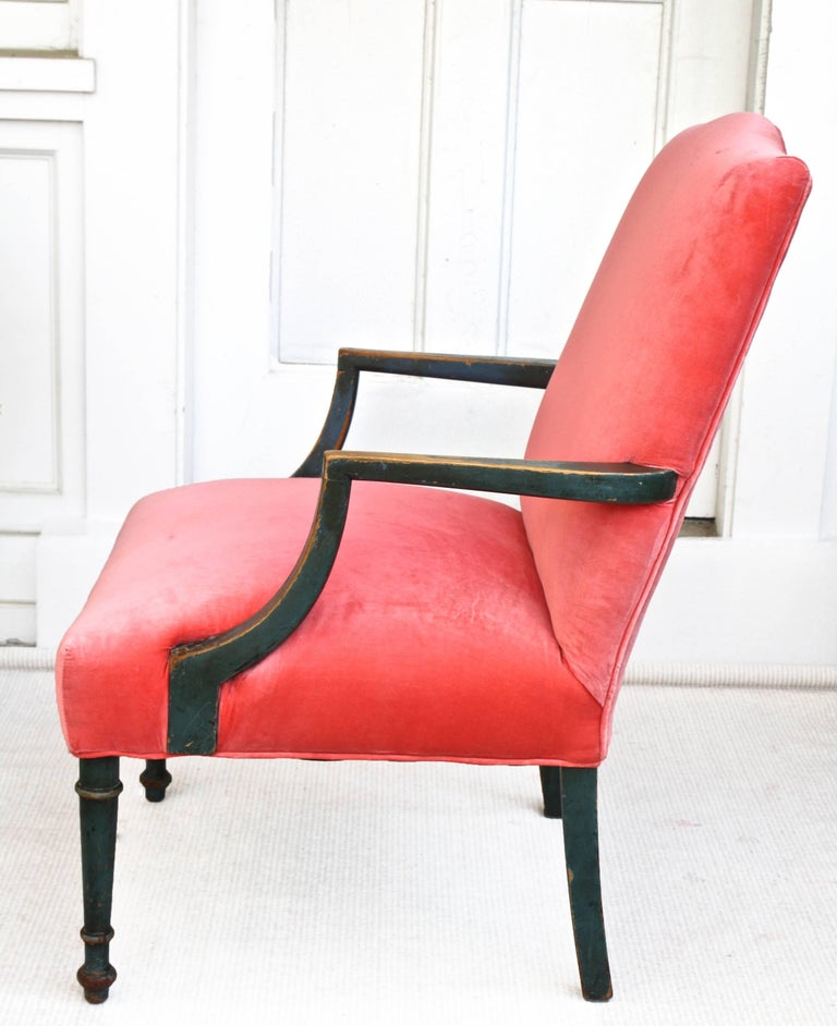 Hand-Carved Regency Gainsborough Armchair For Sale