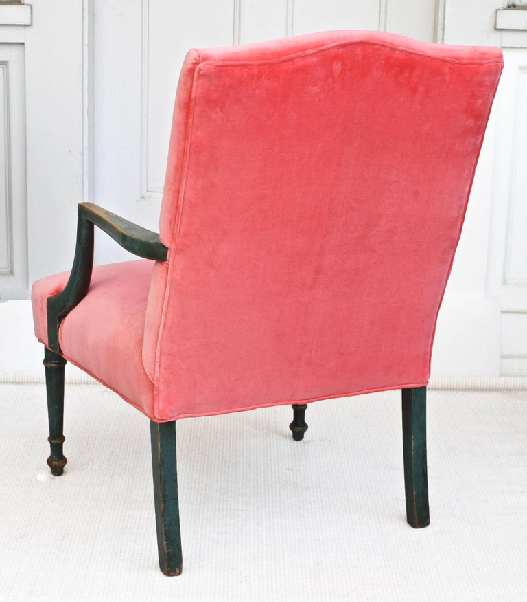 Regency Gainsborough Armchair In Distressed Condition For Sale In Woodbury, CT