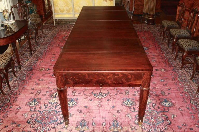 Hand-Carved American Classical Period Banquet Table For Sale
