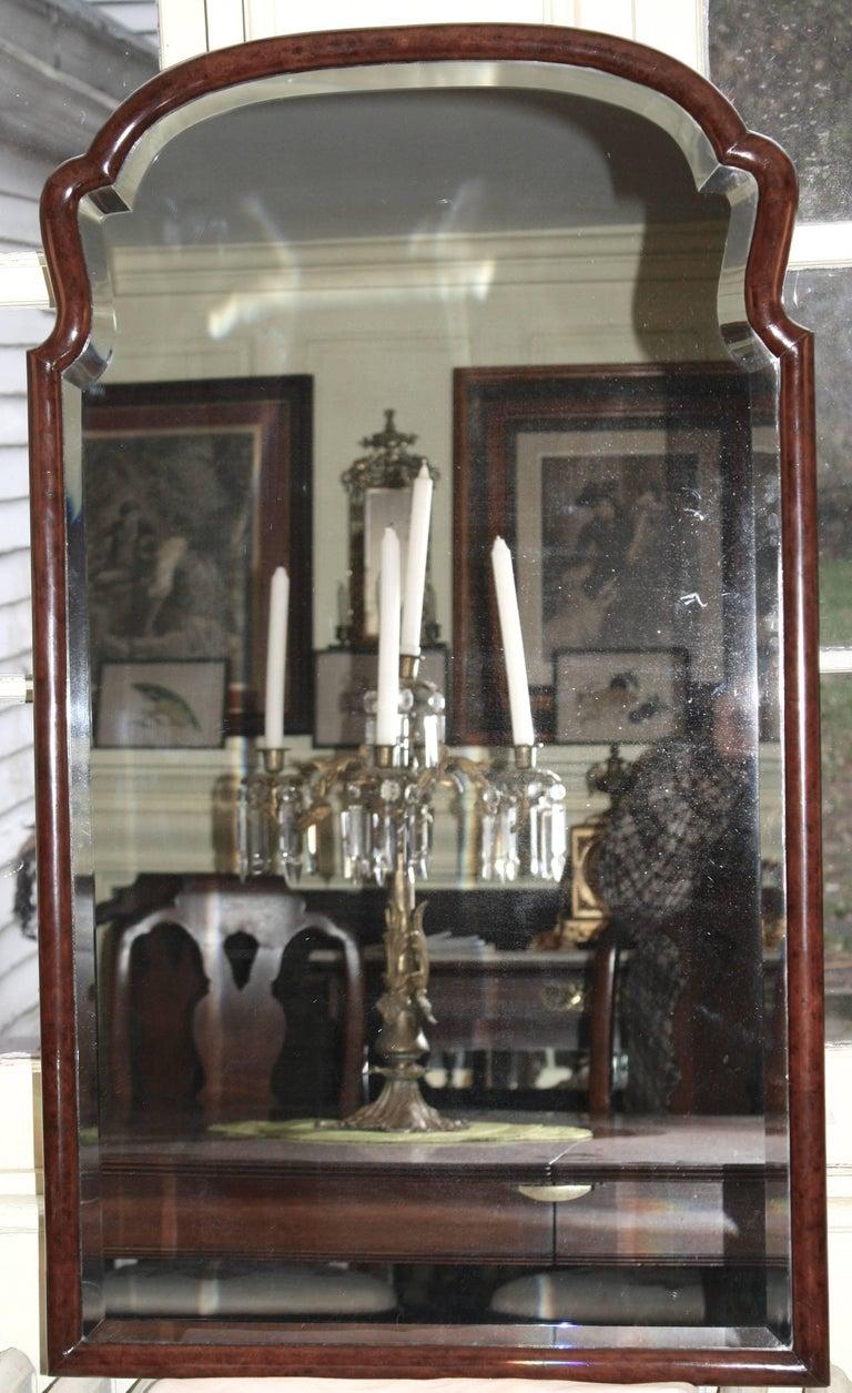 Queen Anne Revival Burl Walnut Pier Mirror For Sale At 1stdibs
