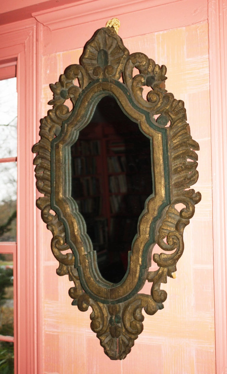 Hand-Crafted Italian Baroque Venetian Mirror For Sale