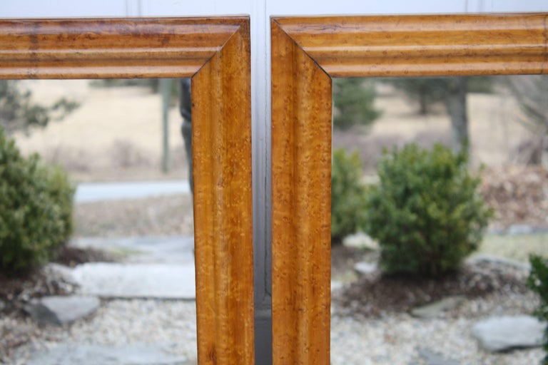 American Pair of Colonial Revival Birdseye Maple Mirrors For Sale