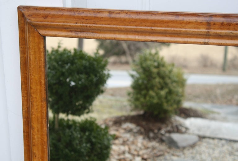 Pair of Colonial Revival Birdseye Maple Mirrors For Sale 3