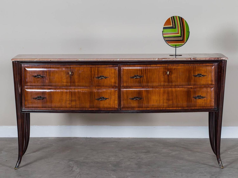 vintage italian osvaldo borsani palisander sideboard with. Black Bedroom Furniture Sets. Home Design Ideas