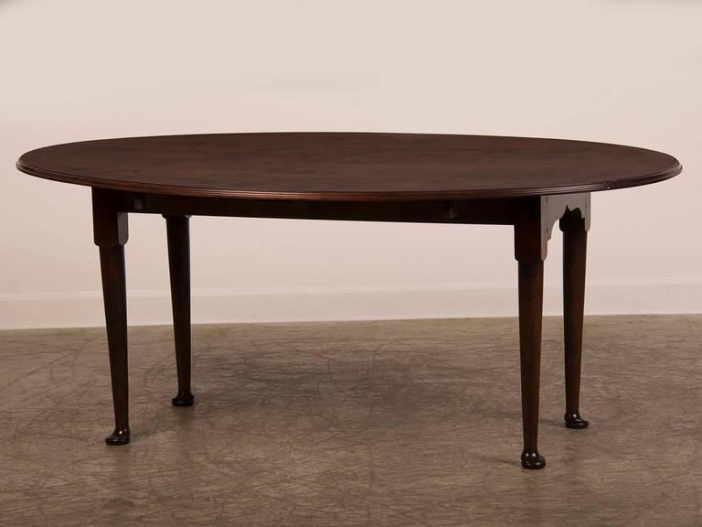 Receive Our New Selections Direct From 1stdibs By Email Each Week Please Click Follow Dealer Queen Anne English Bespoke Made Oval Cherrywood Drop Leaf