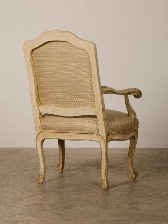 Pair of Louis XV Period Italian Armchairs, Original Painted Finish, circa 1770 For Sale 2