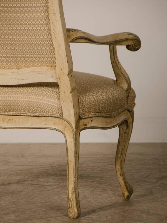 Pair of Louis XV Period Italian Armchairs, Original Painted Finish, circa 1770 For Sale 3