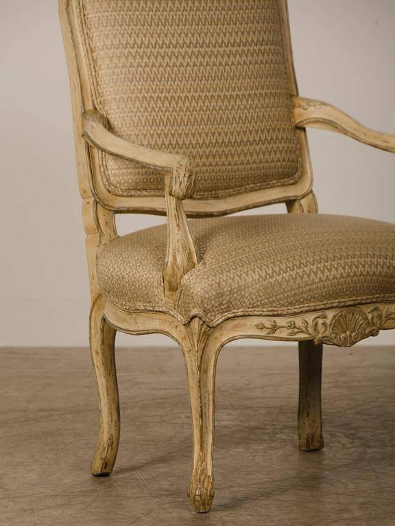 Pair of Louis XV Period Italian Armchairs, Original Painted Finish, circa 1770 In Excellent Condition For Sale In Houston, TX