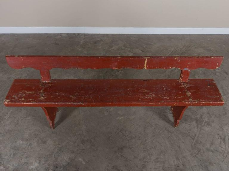 Late 19th Century Antique Painted Romanian Bench, Original Paint, circa 1890 For Sale