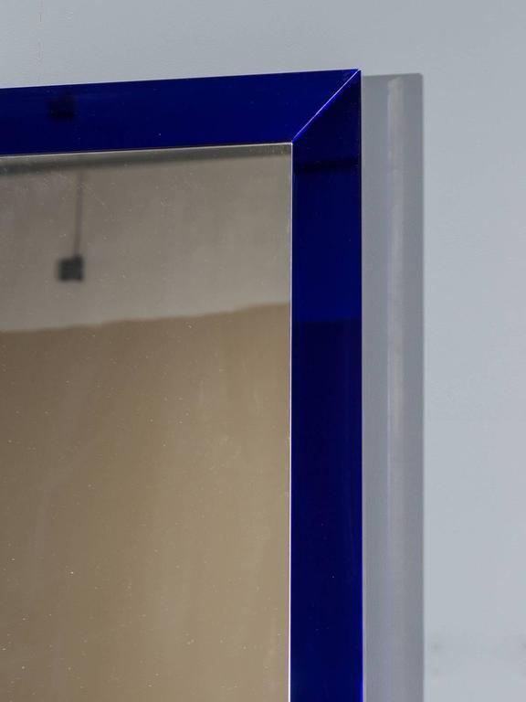... Italian Cobalt Glass Framed Mirror, circa 1960 For Sale at 1stdibs