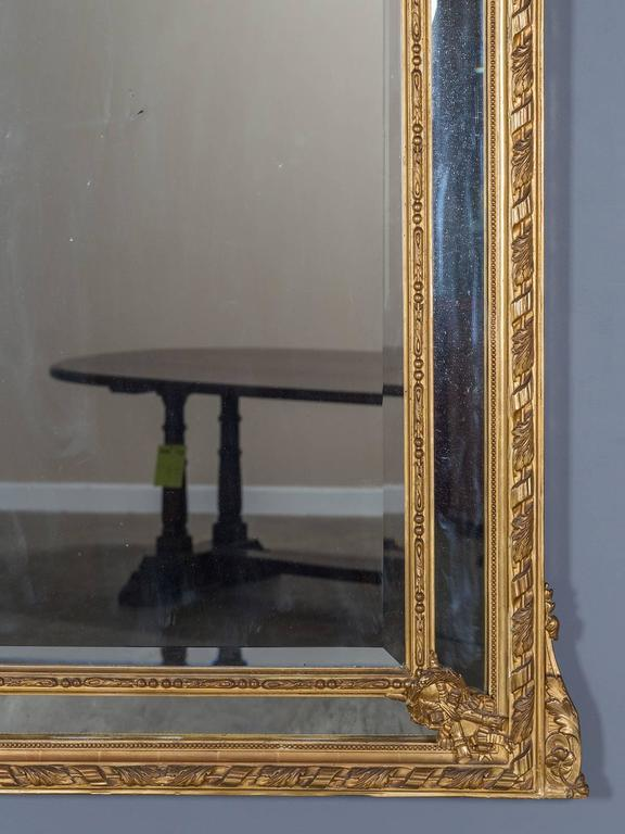 Antique Louis XVI French Giltwood Pareclose Mirror, circa 1890 5