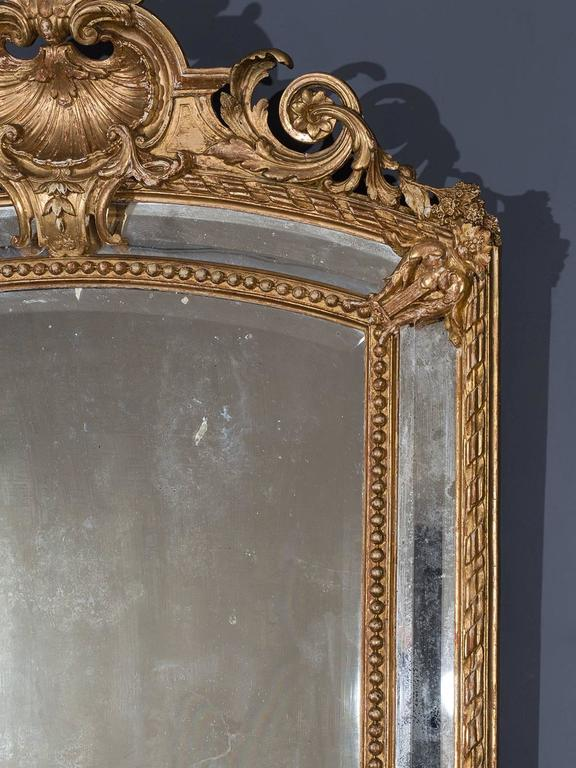 Antique French Louis Philippe Pareclose Mirror, circa 1890 For Sale 1