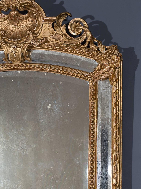 Antique French Louis Philippe Pareclose Mirror Circa 1890