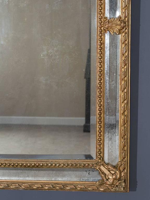 Late 19th Century Antique French Louis Philippe Pareclose Mirror, circa 1890 For Sale