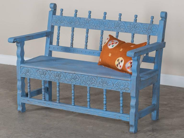 Antique French Painted Bench, circa 1890 In Excellent Condition For Sale In Houston, TX