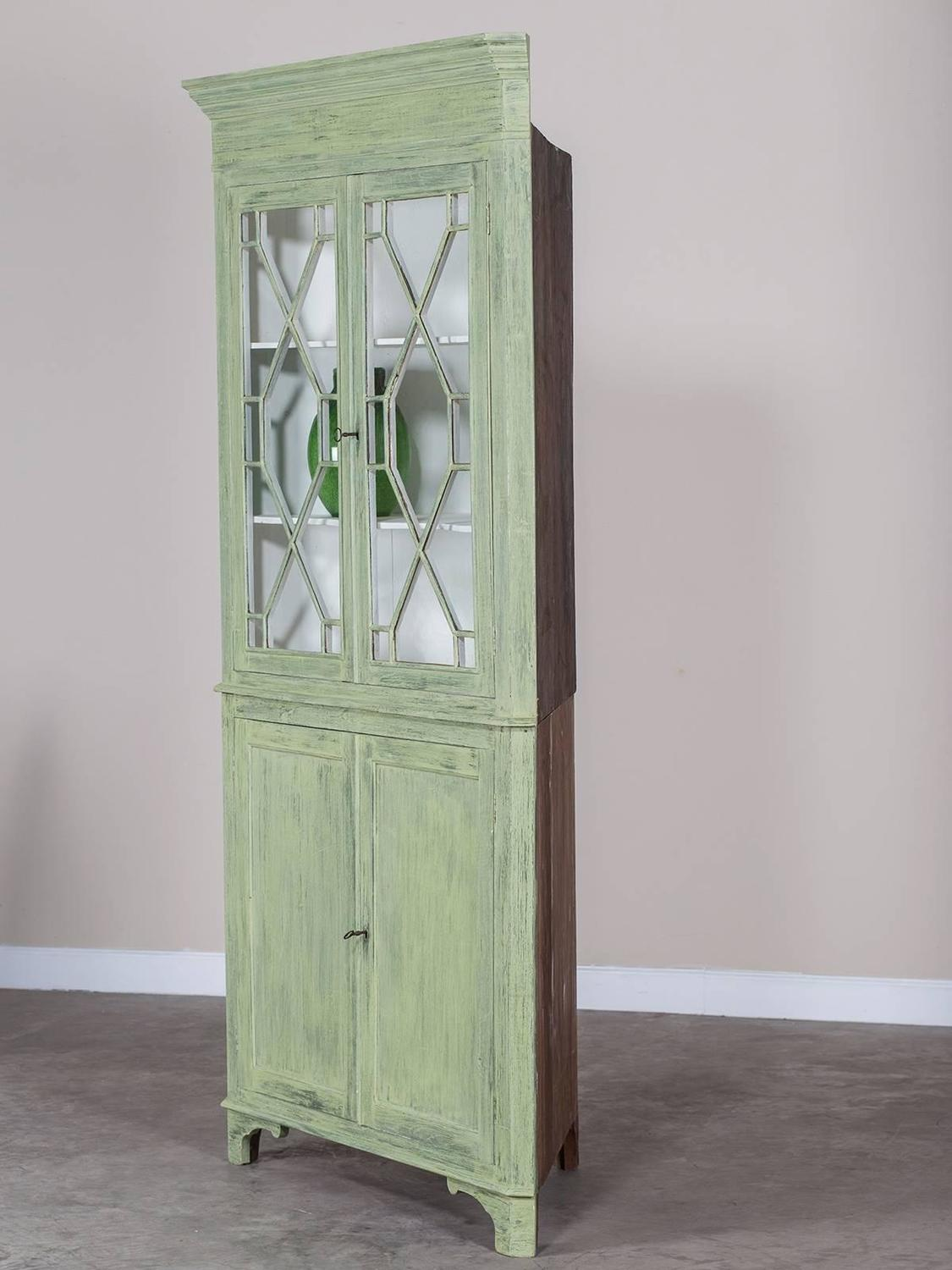 antique english painted georgian corner cabinet  circa 1840 for sale at 1stdibs