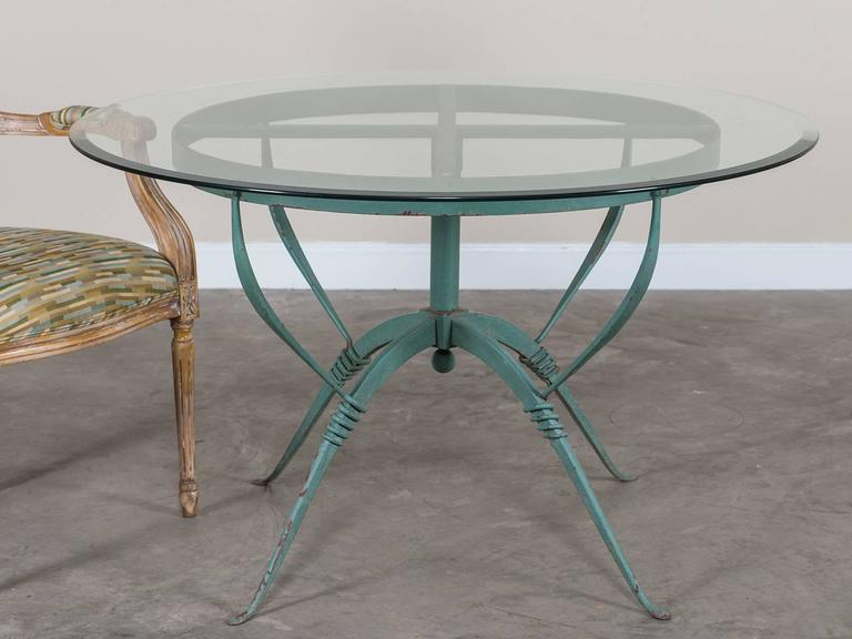 Art deco french painted iron table circa 1930 raymond for Decoration maison 1930 renove