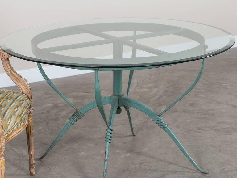 Art deco french painted iron table circa 1930 raymond subes maison dominiq - Decoration maison 1930 ...