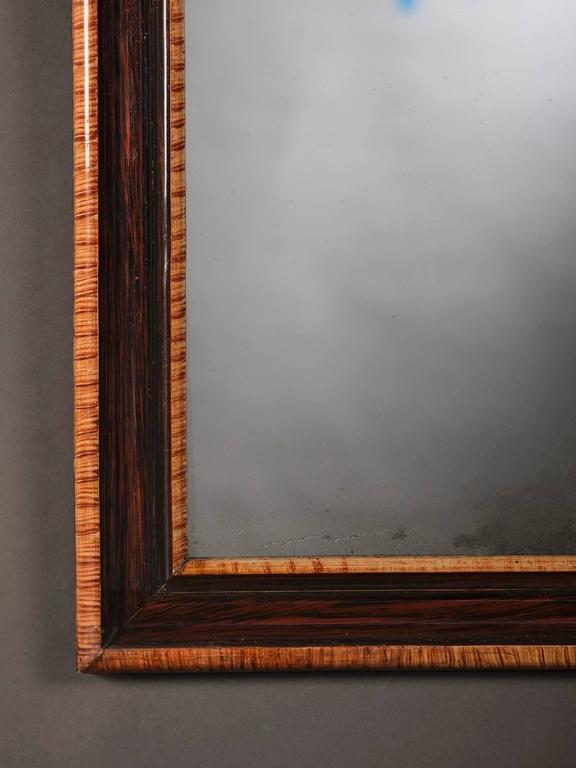 Antique French Louis Philippe Rosewood Mirror, circa 1880 3