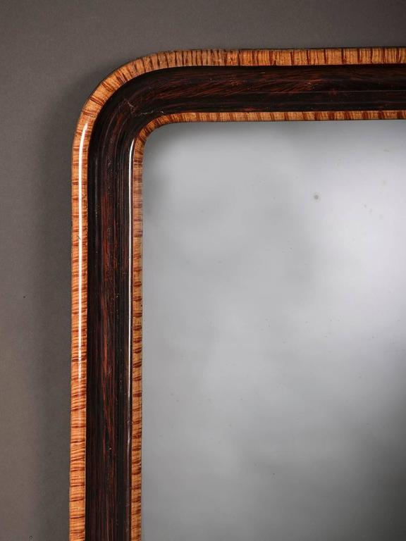Antique French Louis Philippe Rosewood Mirror, circa 1880 2