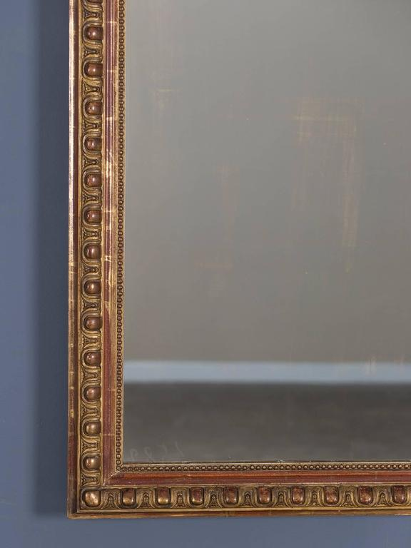 Antique French Louis Philippe Mirror Cartouche, circa 1880 In Excellent Condition For Sale In Houston, TX