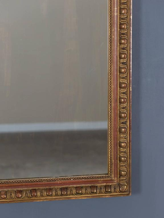 Late 19th Century Antique French Louis Philippe Mirror Cartouche, circa 1880 For Sale