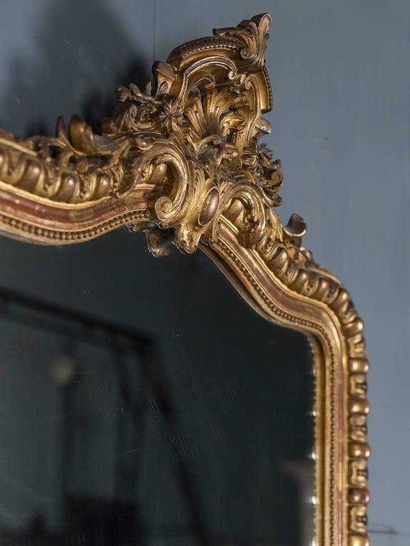 Antique French Louis Philippe Mirror Cartouche, circa 1880 For Sale 1