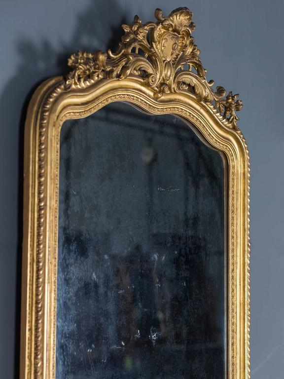 Antique French Gold Leaf Regency Mirror, circa 1880 For Sale 2