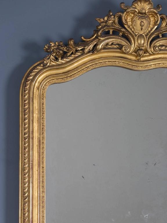 Louis Philippe Antique French Gold Leaf Regency Mirror, circa 1880 For Sale