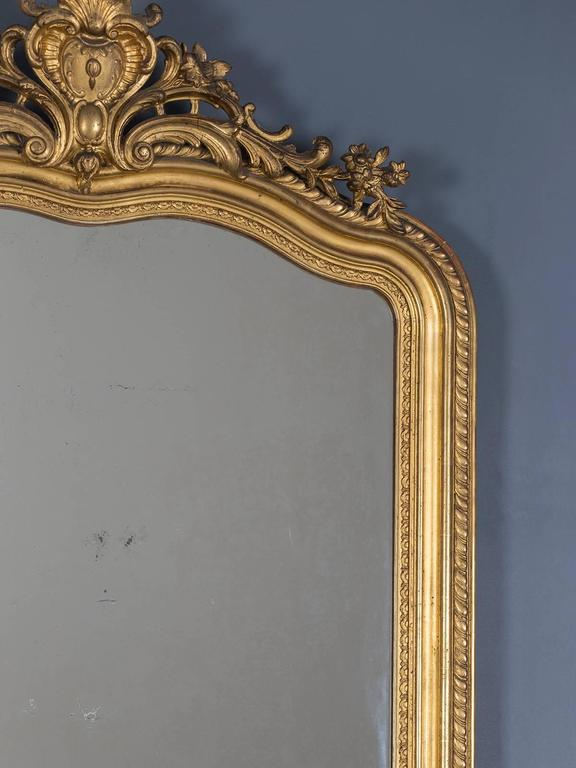 Antique French Gold Leaf Regency Mirror, circa 1880 For Sale 1