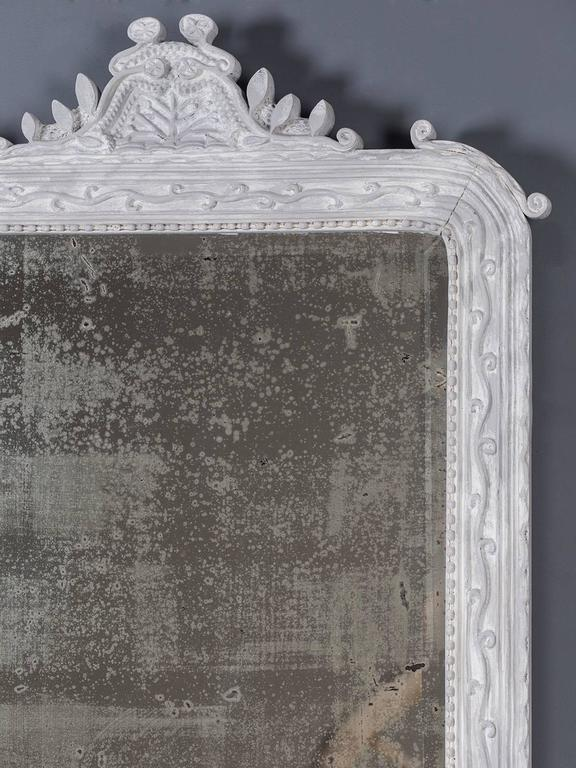 Antique French Painted, Carved Timber Louis Philippe Mirror, circa 1890 For Sale 1